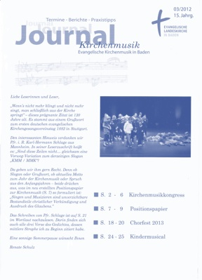 Journal Kirchenmusik